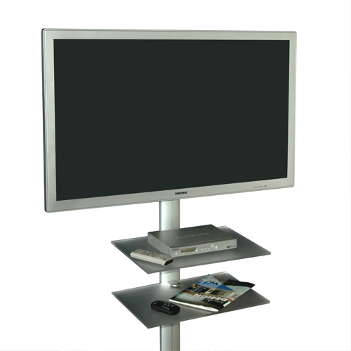 Staffa supporto tv verticale con mensole per lcd led - Supporto porta tv ...