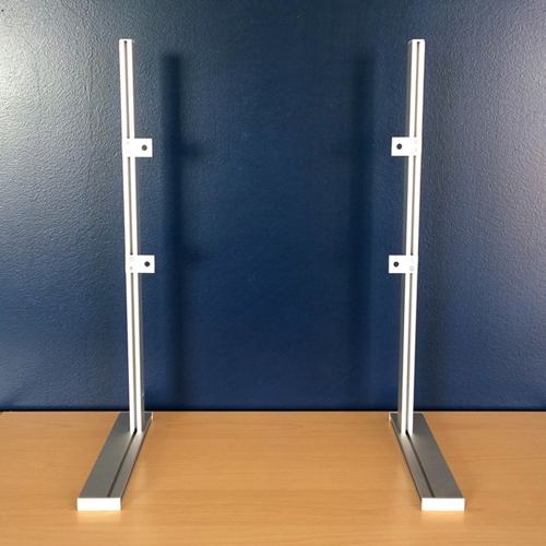 Staffa base supporto tv universale in alluminio standard - Supporto porta tv ...